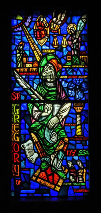 Image result for gregory of nyssa stained glass
