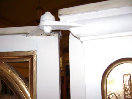 church doors Swinging