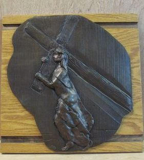 Painter Plaster On Wood 14 Station Set Church Inventory